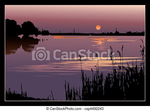 Sunset. - csp4492243