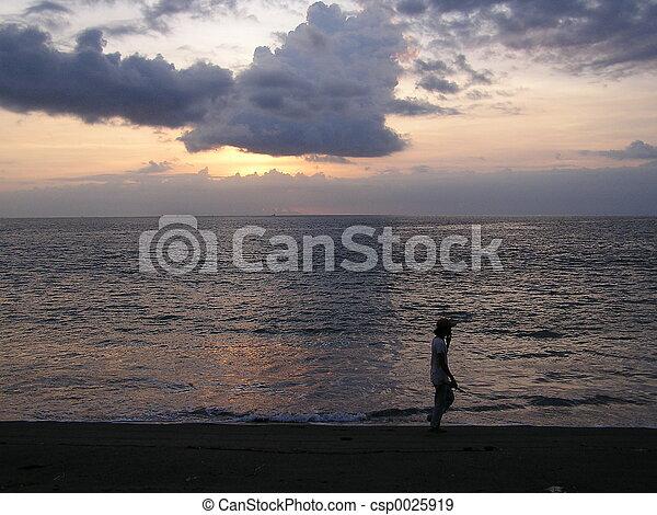 Sunset Walking - csp0025919