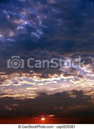 Sunsets - csp0235361