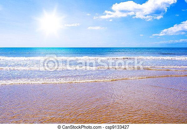 Sunshine beach and sea paradise - csp9133427