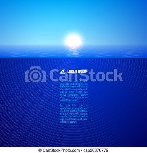 Sunshine over calm water - csp20876779