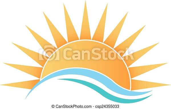 Sunshine with waves - csp24355033