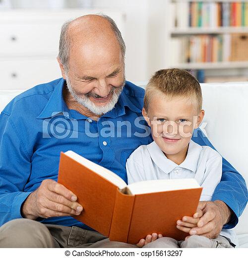 suo, lettura, nipote, nonno - csp15613297