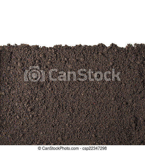 suolo, sezione, bianco, isolato, struttura - csp22347298