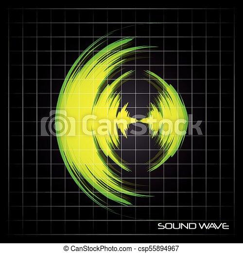 suono, disegno, onda - csp55894967