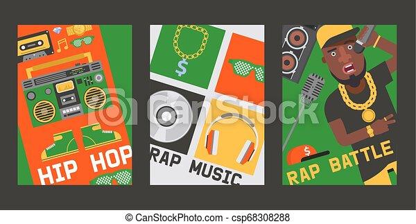 suono, set, dj, fondo, cuffie, discjockey, vettore, berretto, playback, illustrazione, locale notturno, giocatore, piattaforma girevole, disco, musica, rap, discoteca, gioco, fondale, disco - csp68308288
