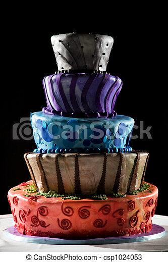 Super cool wedding cake - very funky and fun! - csp1024053