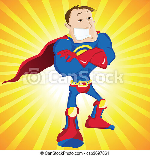 super, dad., héros, homme - csp3697861