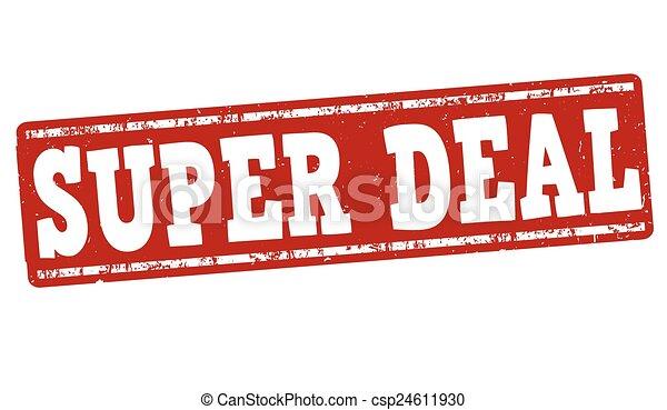Super deal stamp - csp24611930