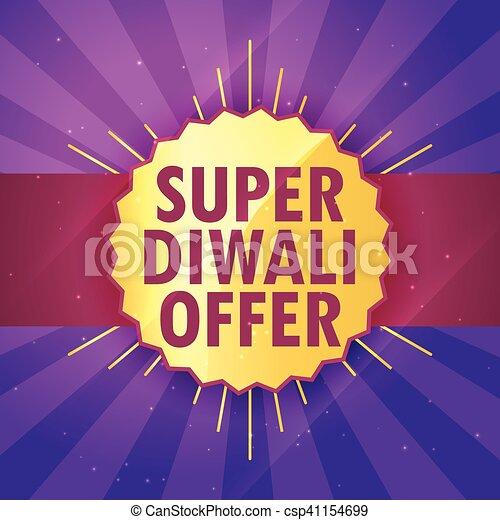 super diwali sale offer design template - csp41154699