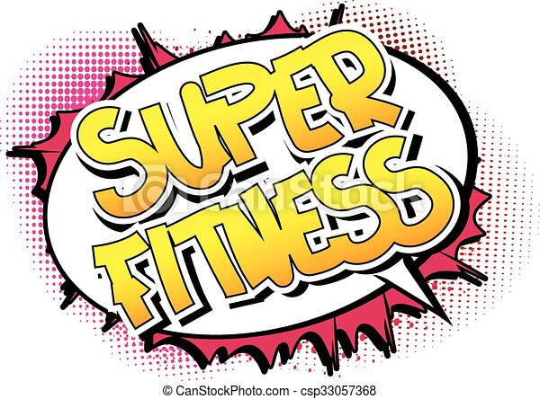 super fitness comic book style word on comic book abstract clip rh canstockphoto com comic book clip art text comic book clipart black and white