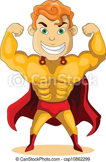 super, fort, héros - csp10862299