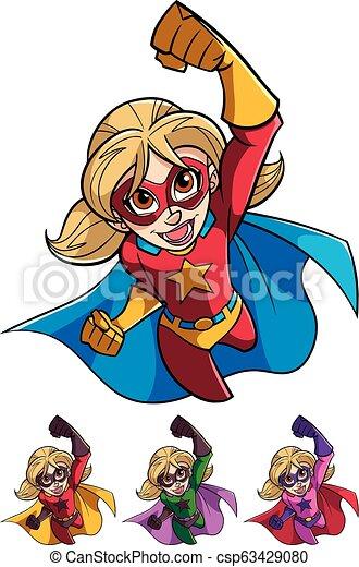 Super Girl Flying - csp63429080
