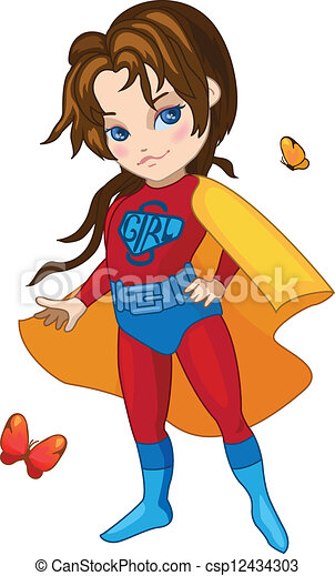 Super Girl vector illustration - csp12434303