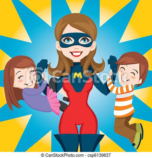 Super héroe mamá - csp6139637