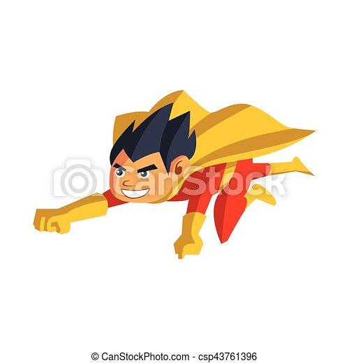 super hero boy cartoon - csp43761396