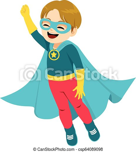Super Hero Boy - csp64089098