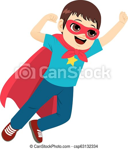 Super Hero Boy Flying - csp63132334