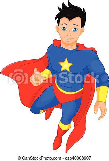Super hero boy thumb up - csp40008907