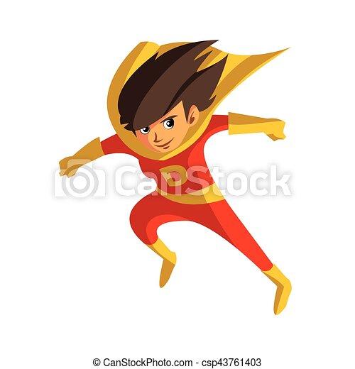 super hero daughter cartoon - csp43761403