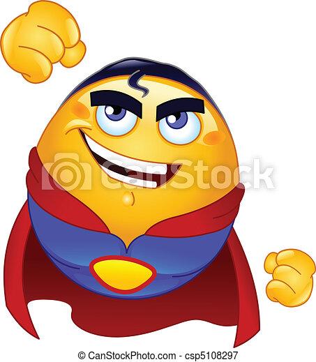 Super hero emoticon - csp5108297