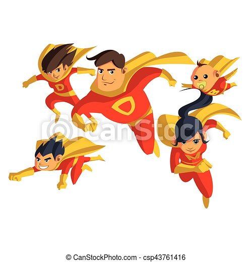 super hero families set - csp43761416