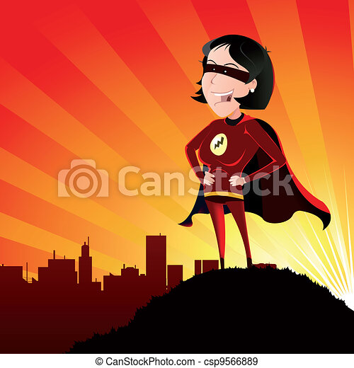 Super Hero - Female - csp9566889