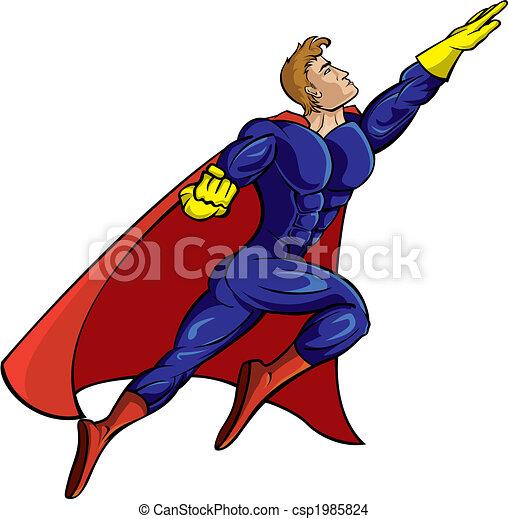 Super hero flying - csp1985824