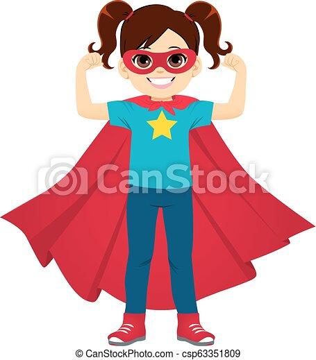 Super Hero Girl Standing - csp63351809