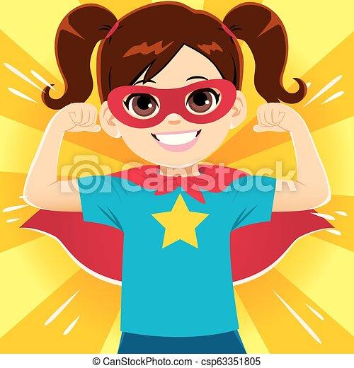 Super Hero Girl - csp63351805