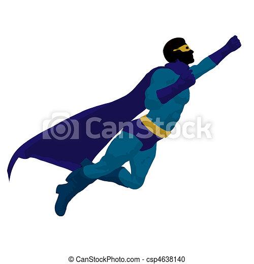 Super Hero Illustration Silhouette - csp4638140