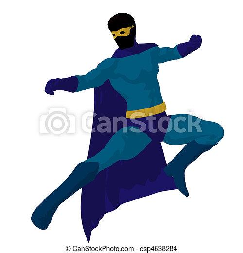 Super Hero Illustration Silhouette - csp4638284