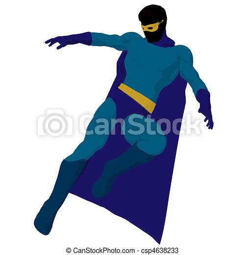 Super Hero Illustration Silhouette - csp4638233