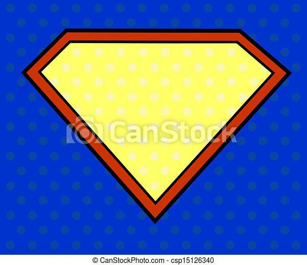 Super hero shield in pop art style - csp15126340