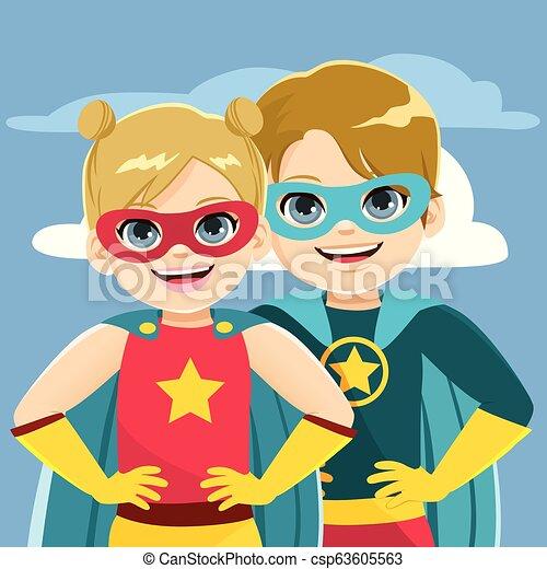 Super Hero Siblings - csp63605563