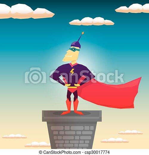 super hero. vector illustration - csp30017774