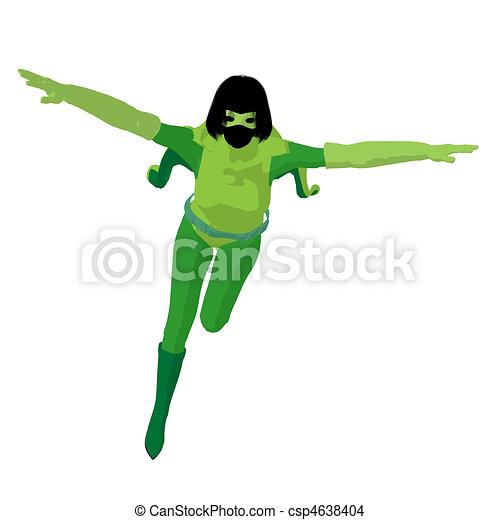 Super Heroine Illustration Silhouette - csp4638404