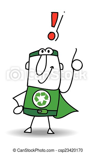 Super Recycling Hero have a solution - csp23420170