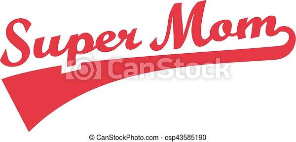 super, retro, mamma - csp43585190