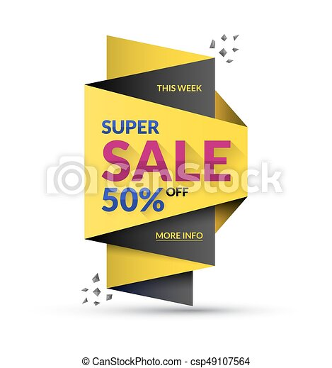 Super sale design template. Vector illustration. Special offer and discount concept. - csp49107564