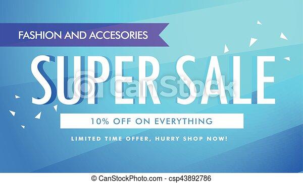 super sale promotional banner template design - csp43892786