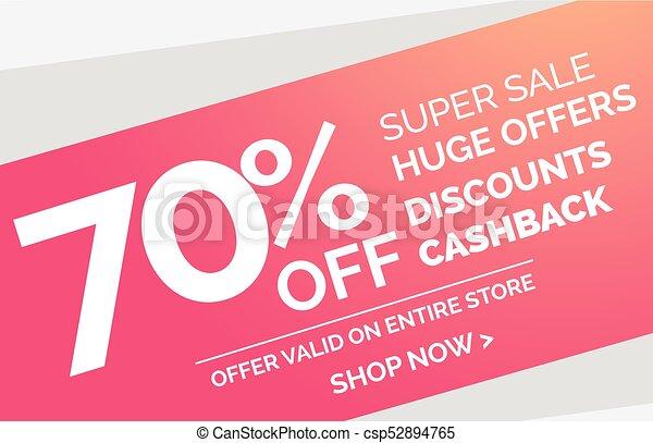 super sale simple discount banner design template - csp52894765