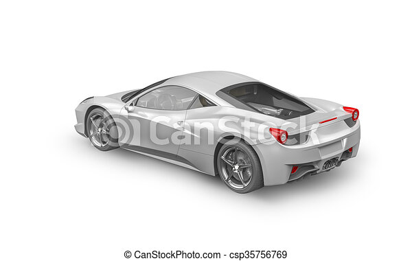 Super Sport Car On White Background   Csp35756769