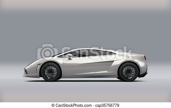 Super Sport Car On White Background   Csp35756779