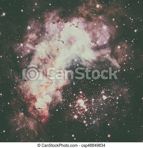 Westerlund 2 is an obscured compact young star cluster in the Milky Way. Super star cluster in the constellation Carina. Elements of this image furnished by NASA.
