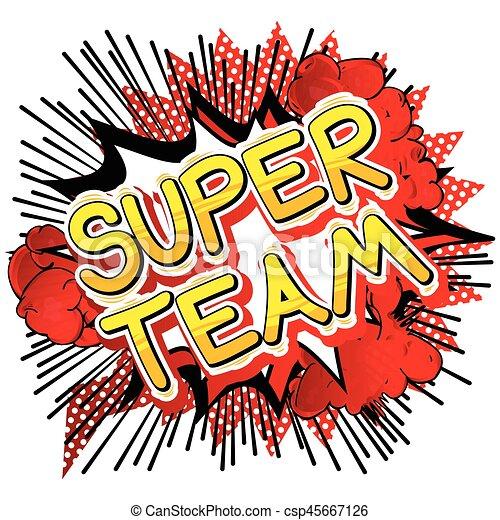 super team comic book style phrase super team comic throat punch clip art punch card clip art