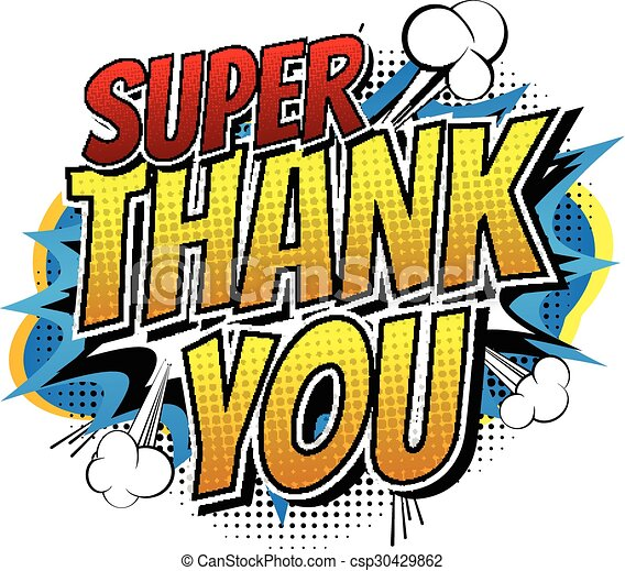 super thank you comic book style word isolated on white clip rh canstockphoto co uk comic book clip art free download comic book clip art free