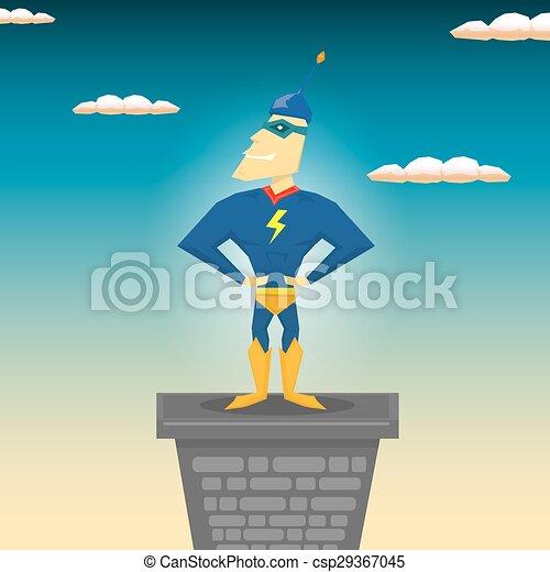 Super vettore hero. illustrazione. eroe illustration. vettore