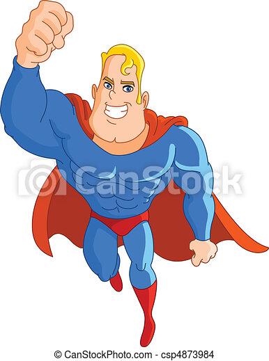super, voando, herói - csp4873984