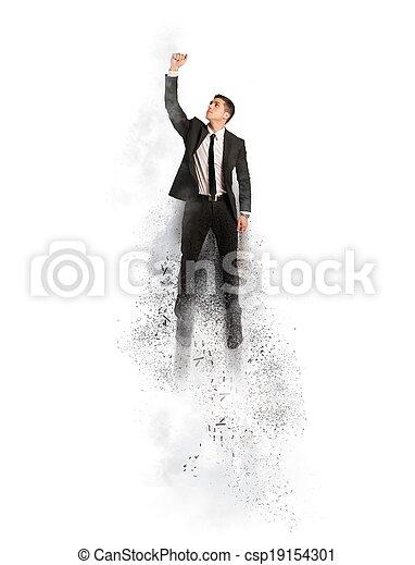 super, volare, eroe, uomo affari - csp19154301